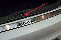 Накладки на внутренние пороги skoda octavia a4 (шкода октавия а4), нерж.