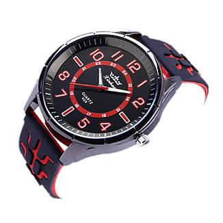 """Мужские наручные часы на силиконовом ремешке с большим циферблатом """"Xinhao"""" (красный), фото 2"""