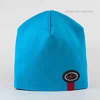 Стильная шапочка для мальчика Сеня бирюза
