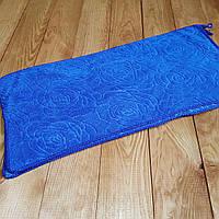 """Кухонное полотенце """"Розочки"""" микрофибра 25*48, цвет: синий"""