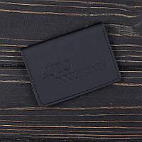Обложка на автодокументы v.1.0. Fisher Gifts STANDART черный (кожа)