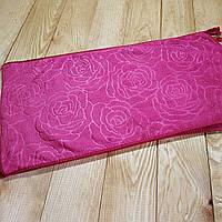 """Кухонное полотенце """"Розочки"""" микрофибра 25*48, цвет: бордовый"""