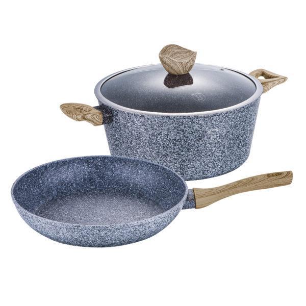 Набор посуды Berlinger Haus Forest Line 3 предмета BH-1570 из кованого алюминия, ручки не нагреваются,
