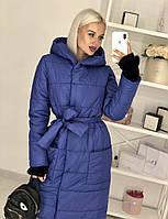 Куртка- пальто, плащ женское модное синее