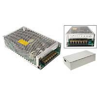 Блок питания перфорированный 12В 10А 120Вт, 2-кан для LED-лент CCTV (FD10664)