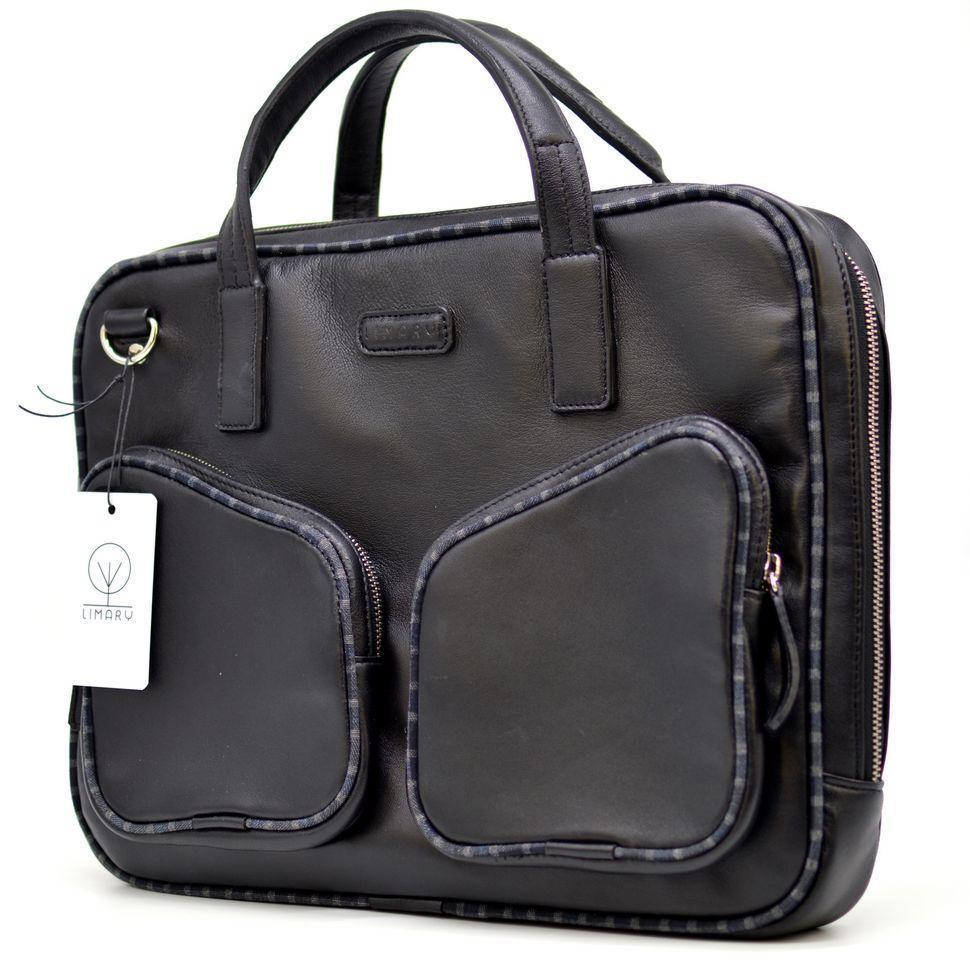 Натуральная кожаная мужская сумка