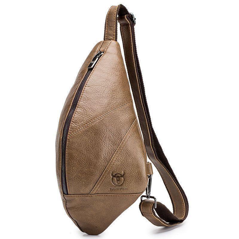"Мини-рюкзак из натуральной кожи ""слинг"" на одно плечо"