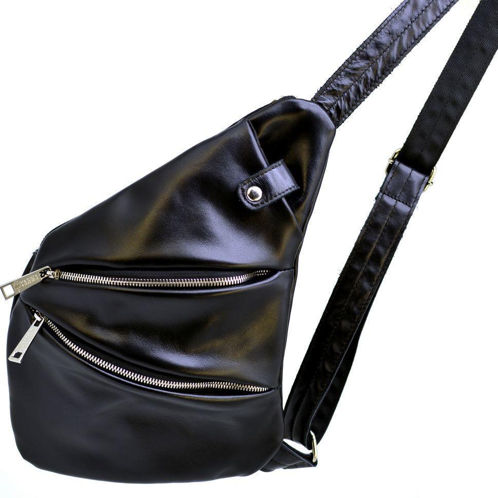 Черная мужская сумка через плечо
