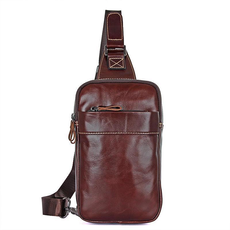 Брендовый кожаный мини-рюкзак на одной шлейке