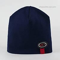 Детская трикотажная шапочка Сеня темно-синяя