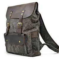 Молодежный рюкзак микс парусины и кожи