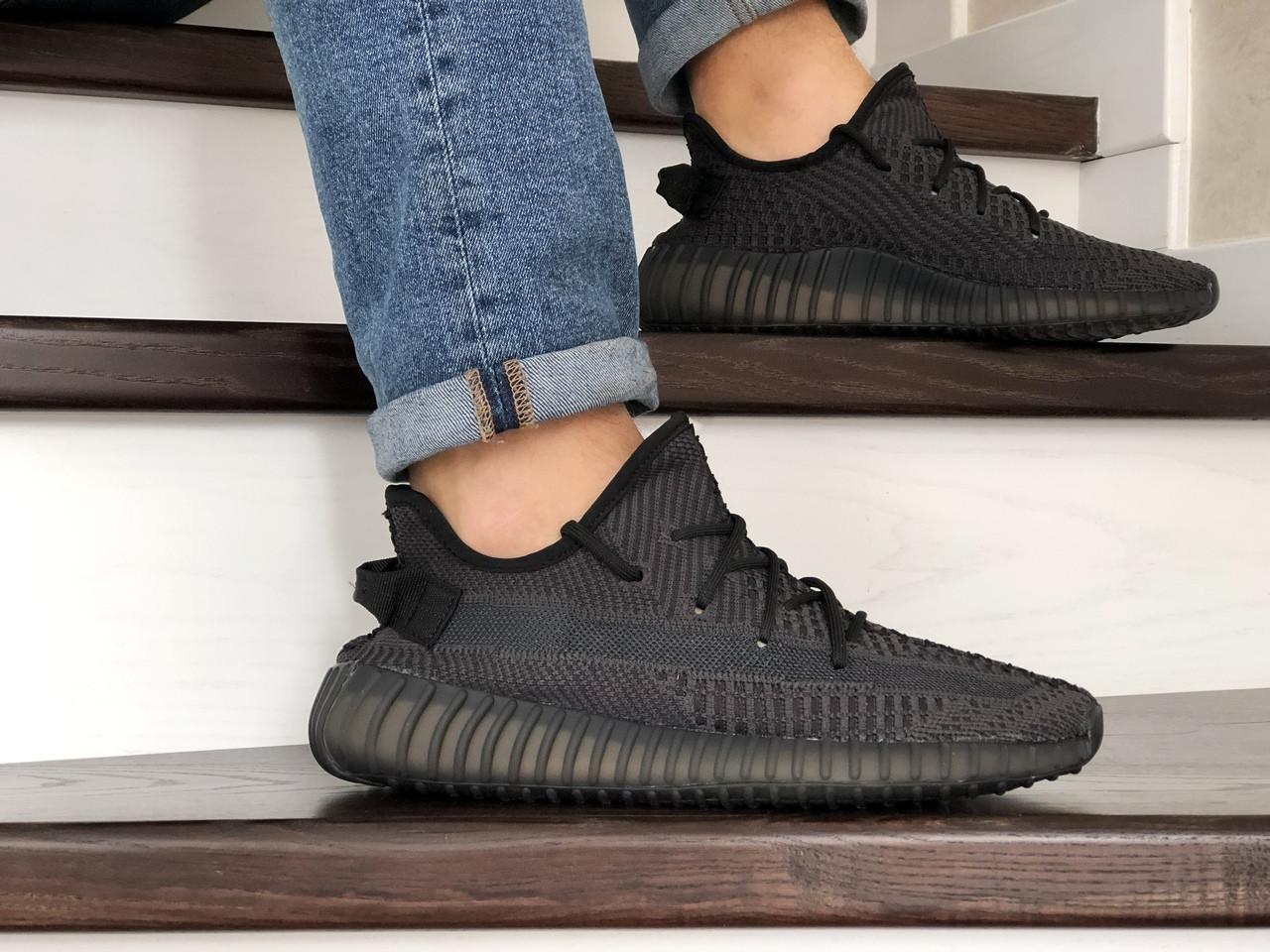 Модные кроссовки Adidas x Yeezy Boost,темно серые