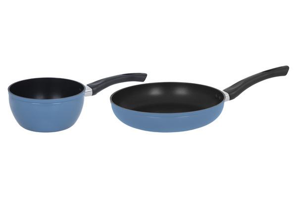 Набор посуды из литого алюминия 2 предмета Pixel PX-610B, ручки не нагреваются, антипригарное покрытие