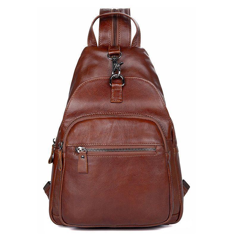 Коричневый рюкзак мужской стильный