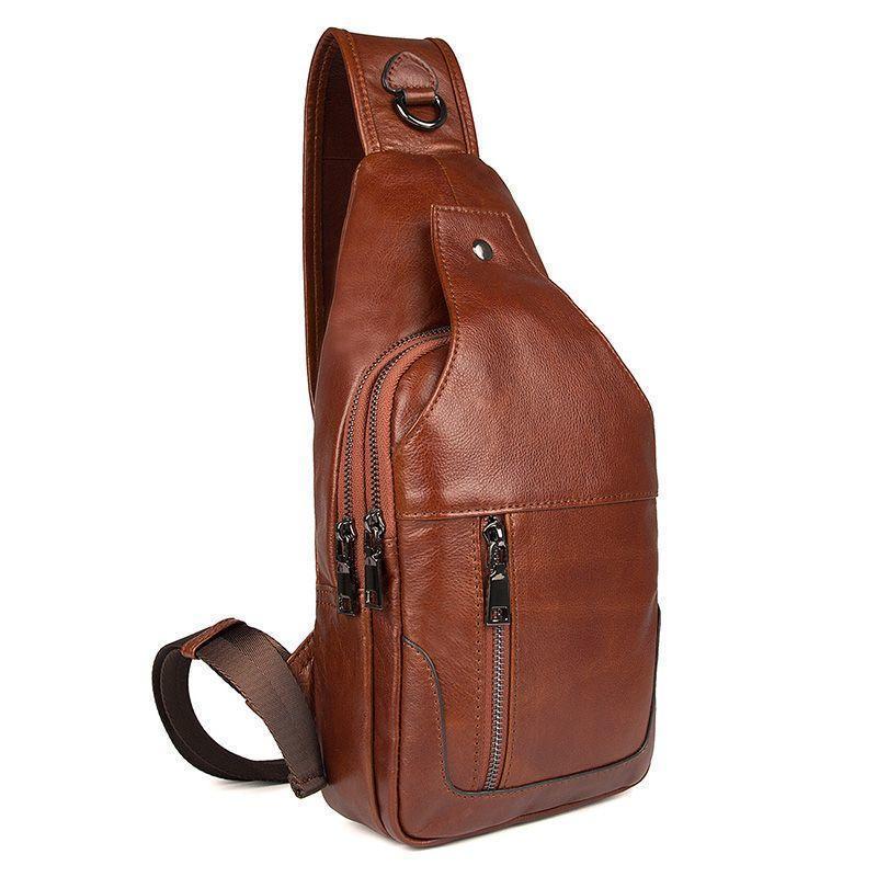 Модный рюкзак на моношлейке из натуральной телячьей кожи