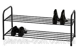 Полка для обуви 2-х уровневая (чёрная)