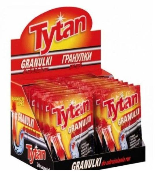 Гранулированное средство для чистки труб Tytan
