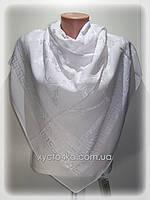 Шифоновые платки с атласной вставкой Глория, белый