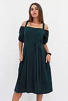 S, M, L / Зручне повсякденне плаття Francheska, темно-зелений