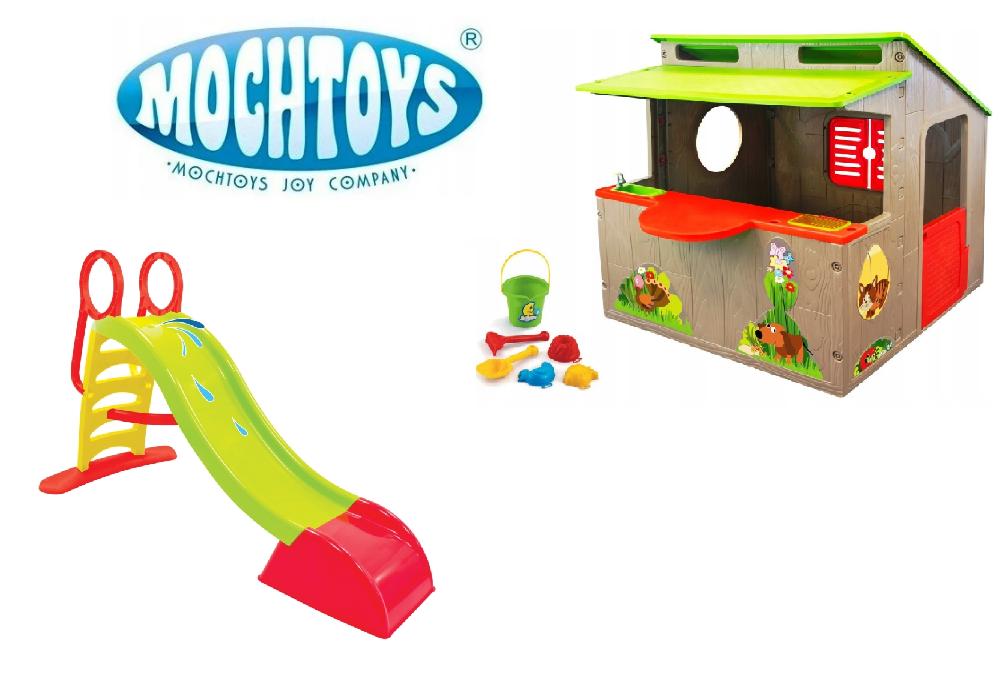 Детский садовой домик + горка Mochtoys