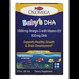 Oslomega Рыбий жир с омега-3 и витамином D3 Норвежская серия детский Norwegian Baby's DHA with Vitamin D3 800, фото 2