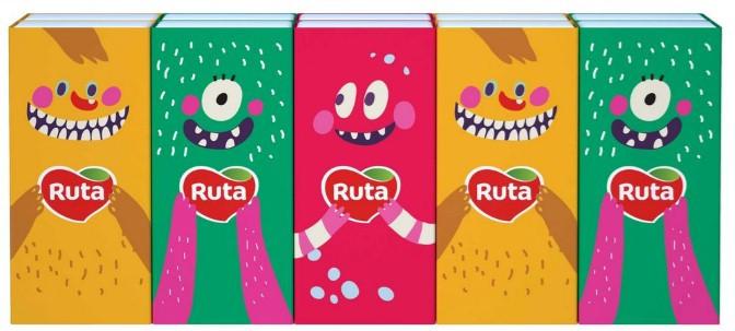 "Хустинки носові""Ruta""Monsters 3ш.б/з 10*10"