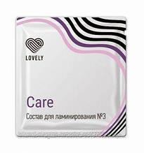 LOVELY №3 Состав для ламинирования «Care» в саше, 1г