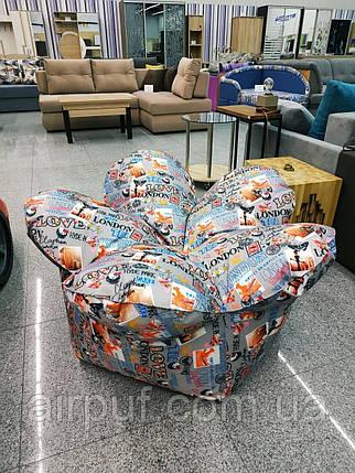 Крісло-квітка (тканина Оксфорд+принт), розмір 120 см, фото 2