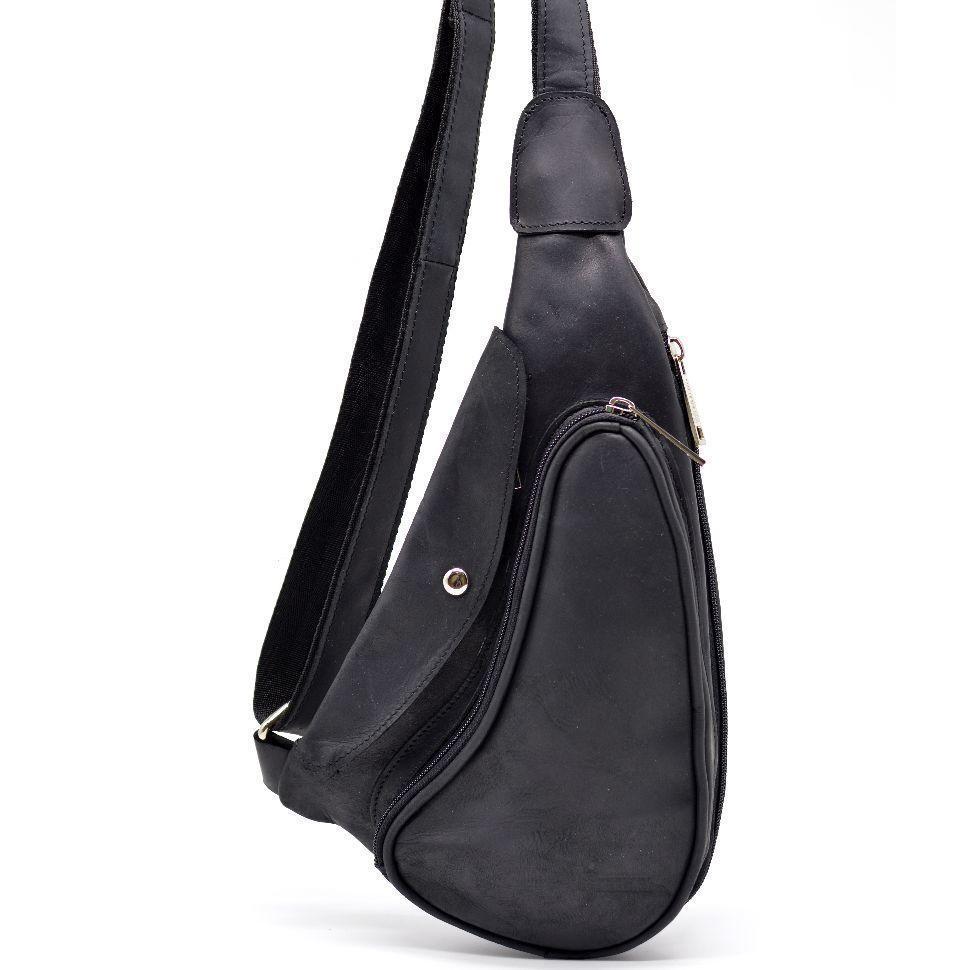 Компактный кожаный рюкзак мужской на одно плечо