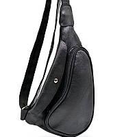 Практичный рюкзак на одно плечо из телячьей кожи