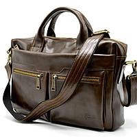 Стильная кожаная мужская сумка для ноутбука