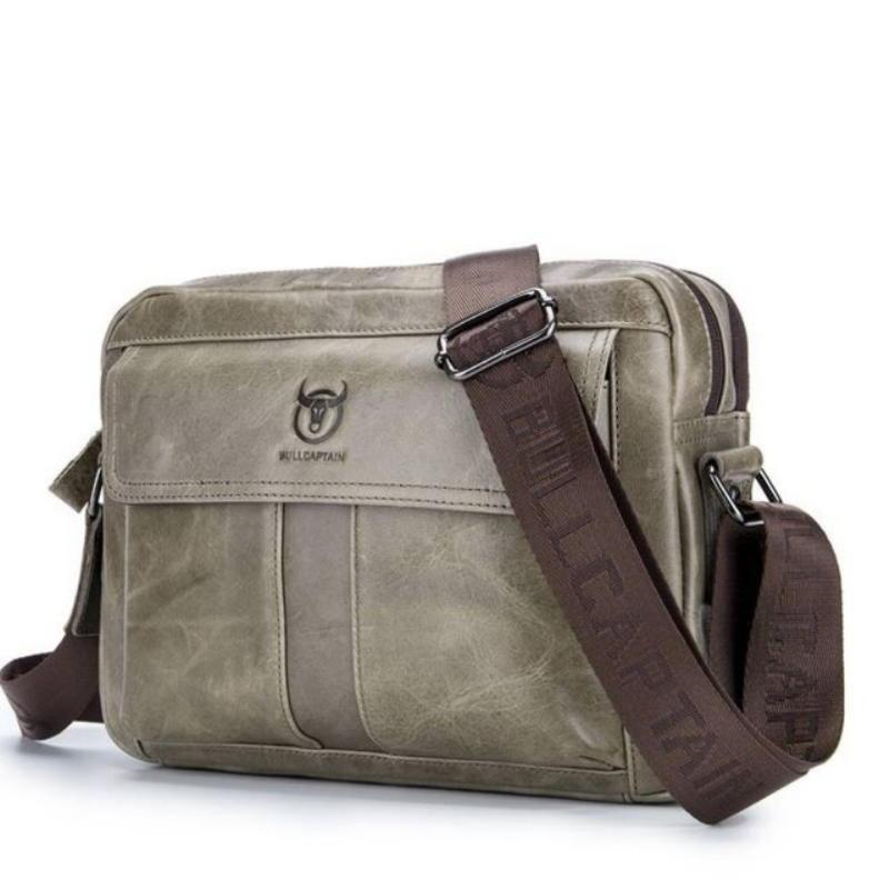 Оливкового цвета мужская сумка через плечо кросс-боди