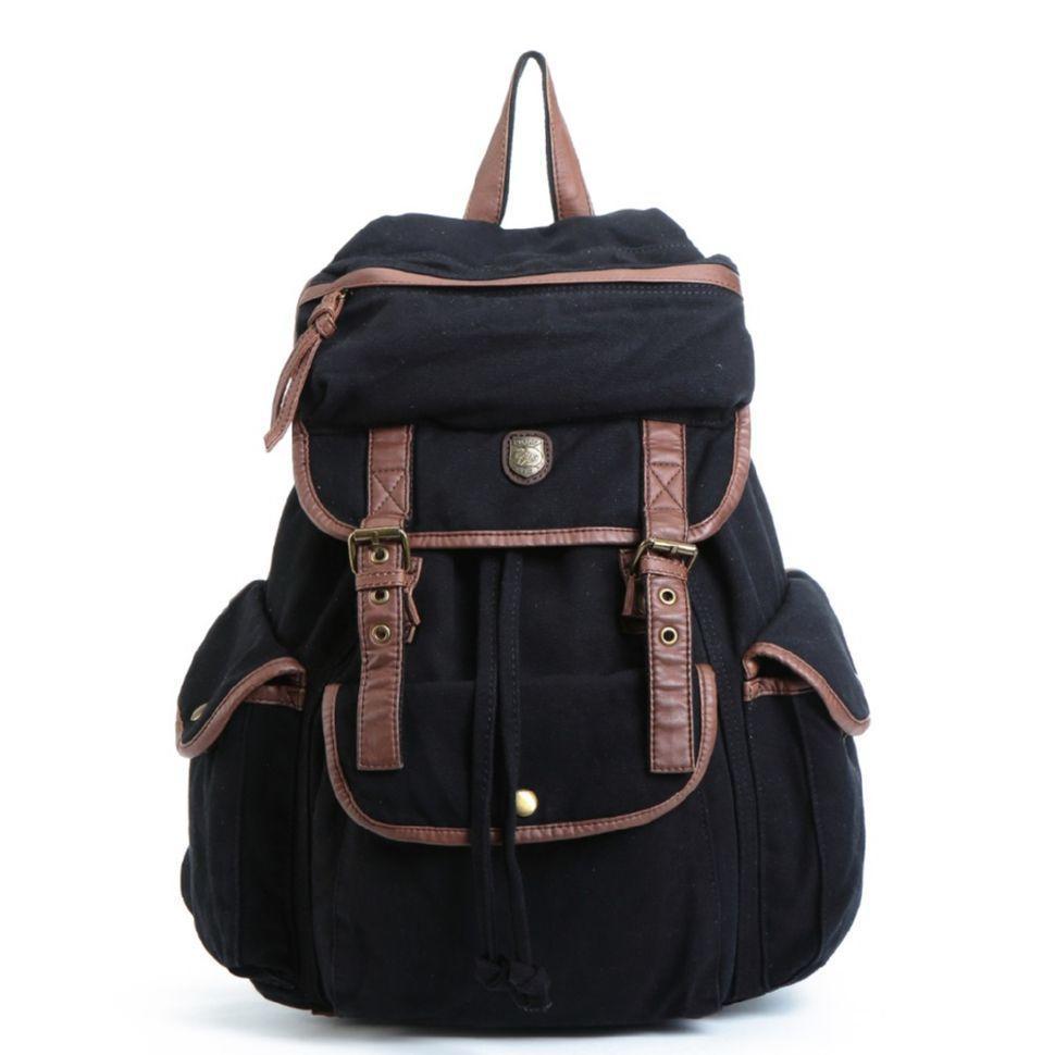 Черный тканевый рюкзак мужской