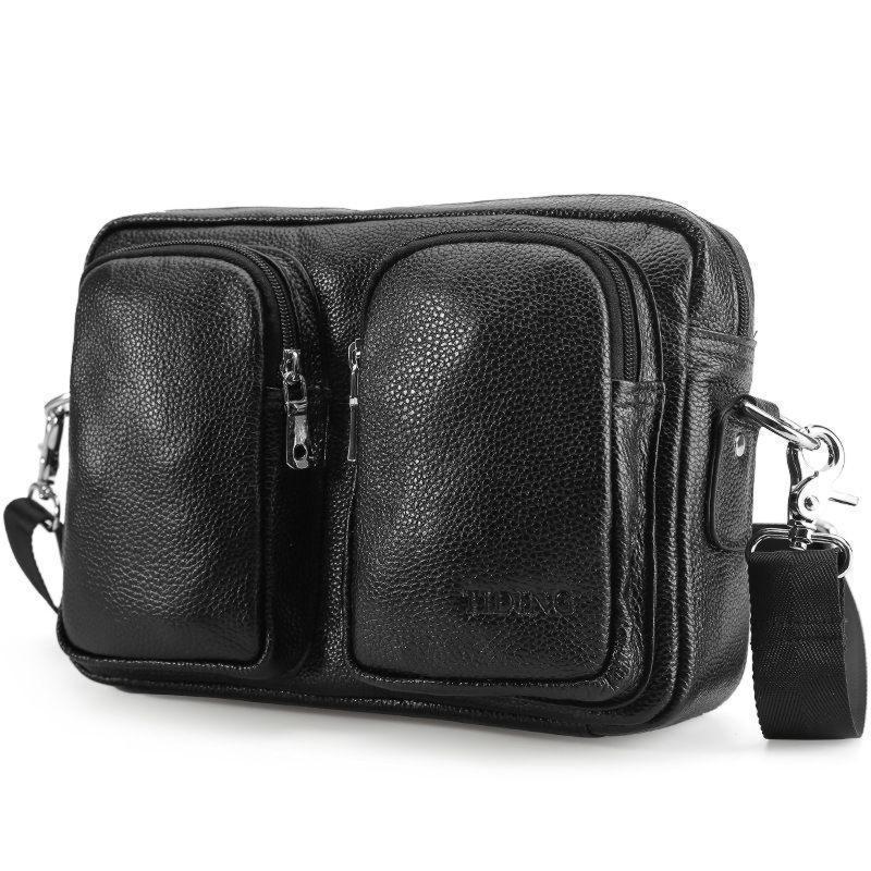 Горизонтальная сумка мужская из натуральной кожи