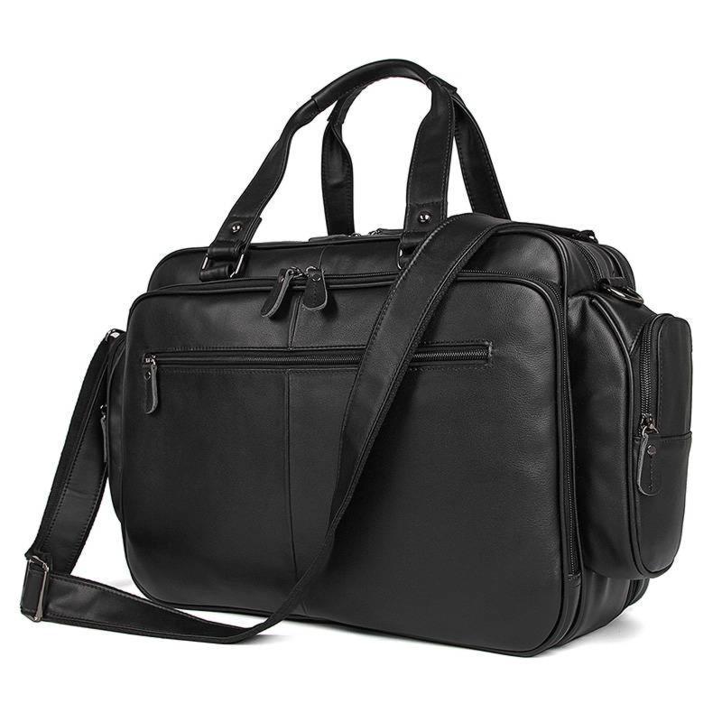 Респектабельная сумка дорожная мужская из мягкой кожи