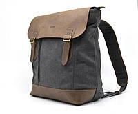 Городской рюкзак мужской из парусины и кожи