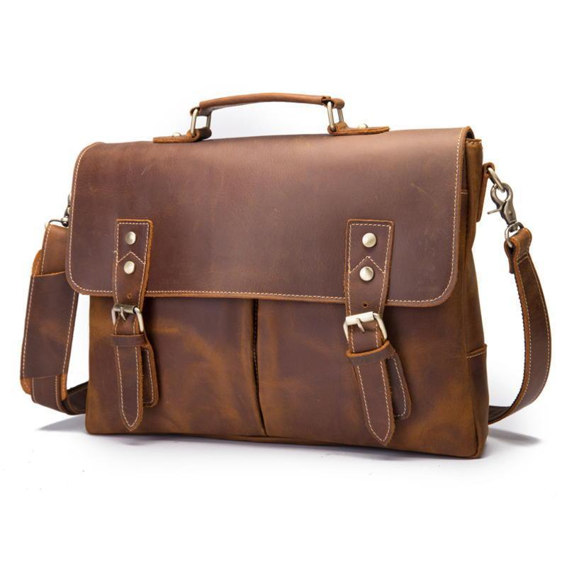 Кожаный портфель мужской из натуральной