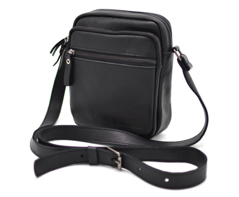 Натуральная кожаная сумка через плечо мужская