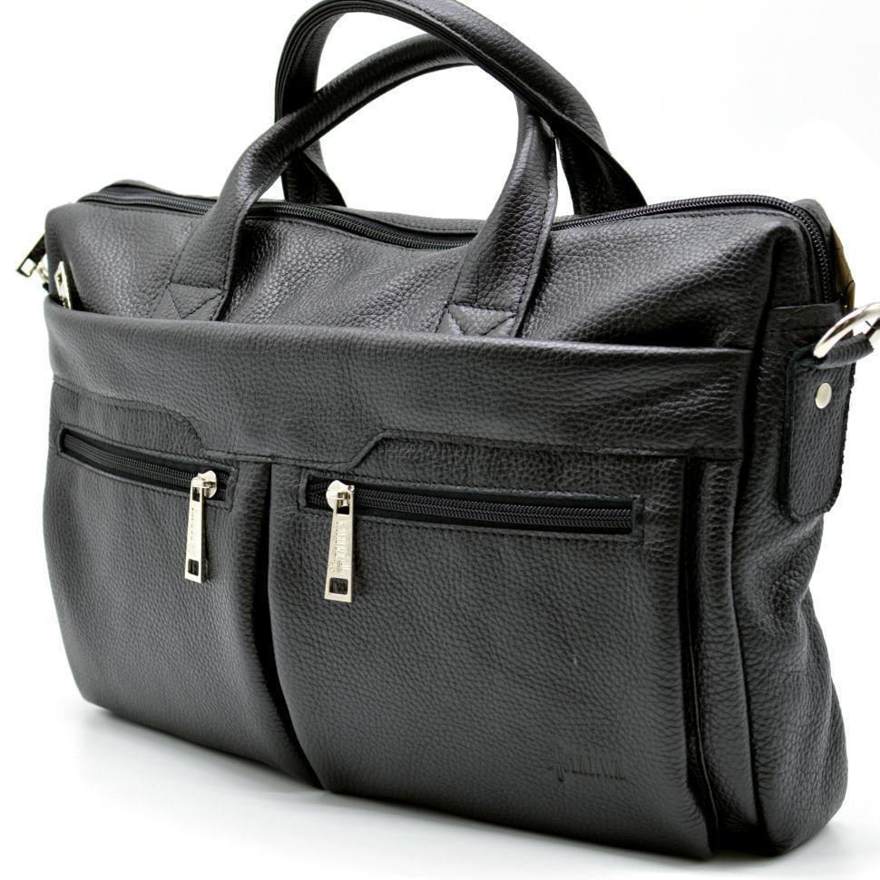 Черная сумка для документов и ноутбука мужская