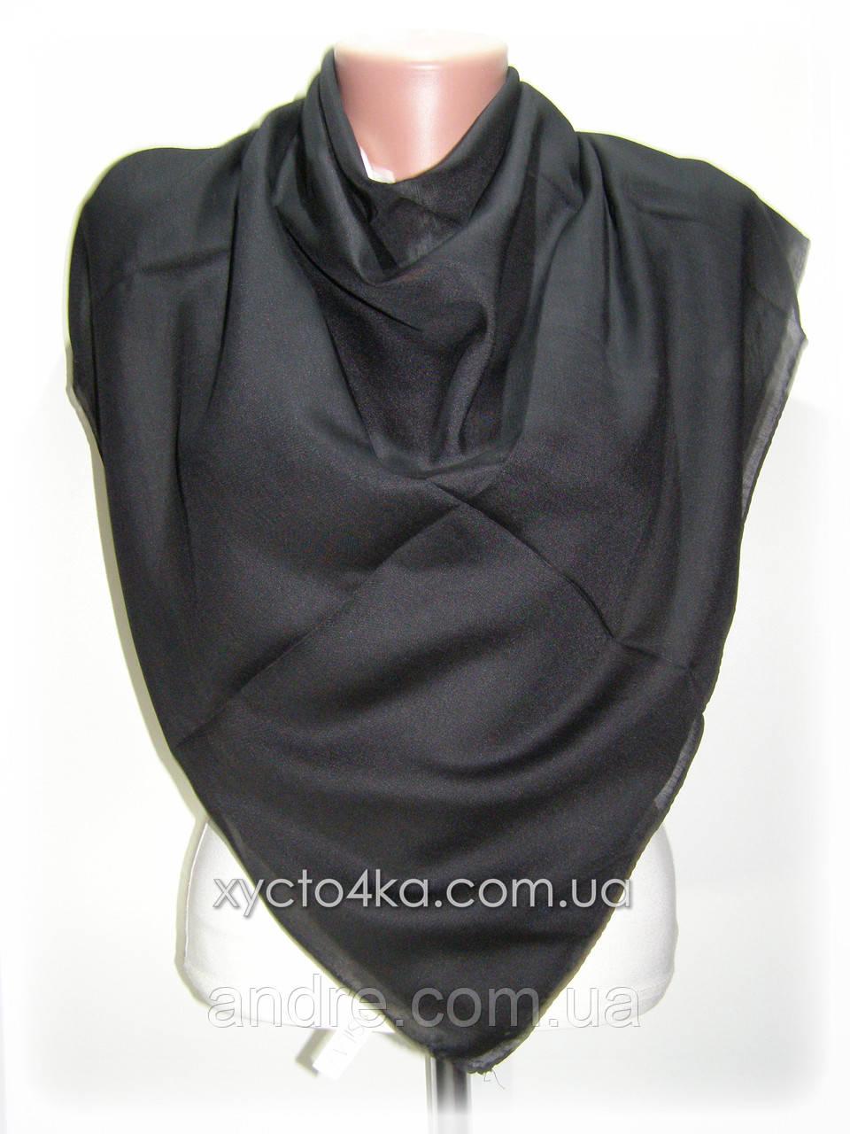 Лёгкие однотонные платки платки Изабелла,чёрный