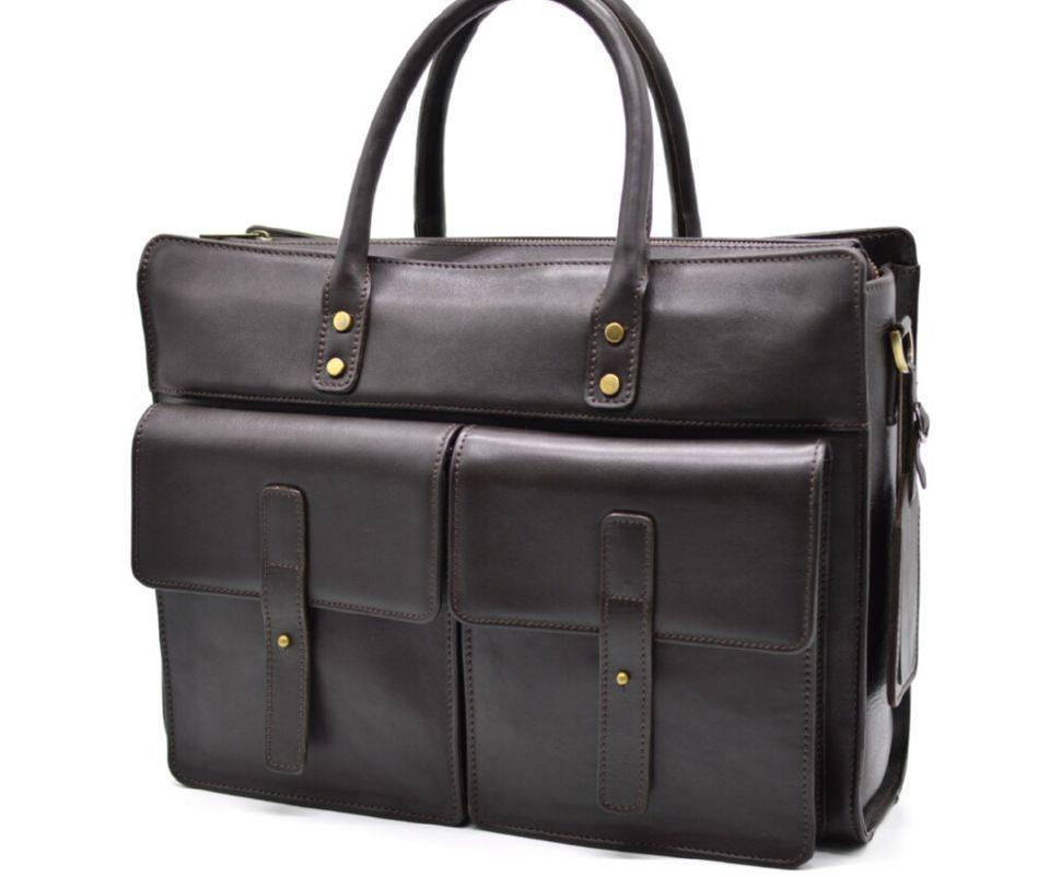 Универсальная сумка мужская из натуральной телячьей кожи