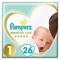 PAMPERS детские подгузники Premium Care Newborn (2-5 кг) Упаковка 26
