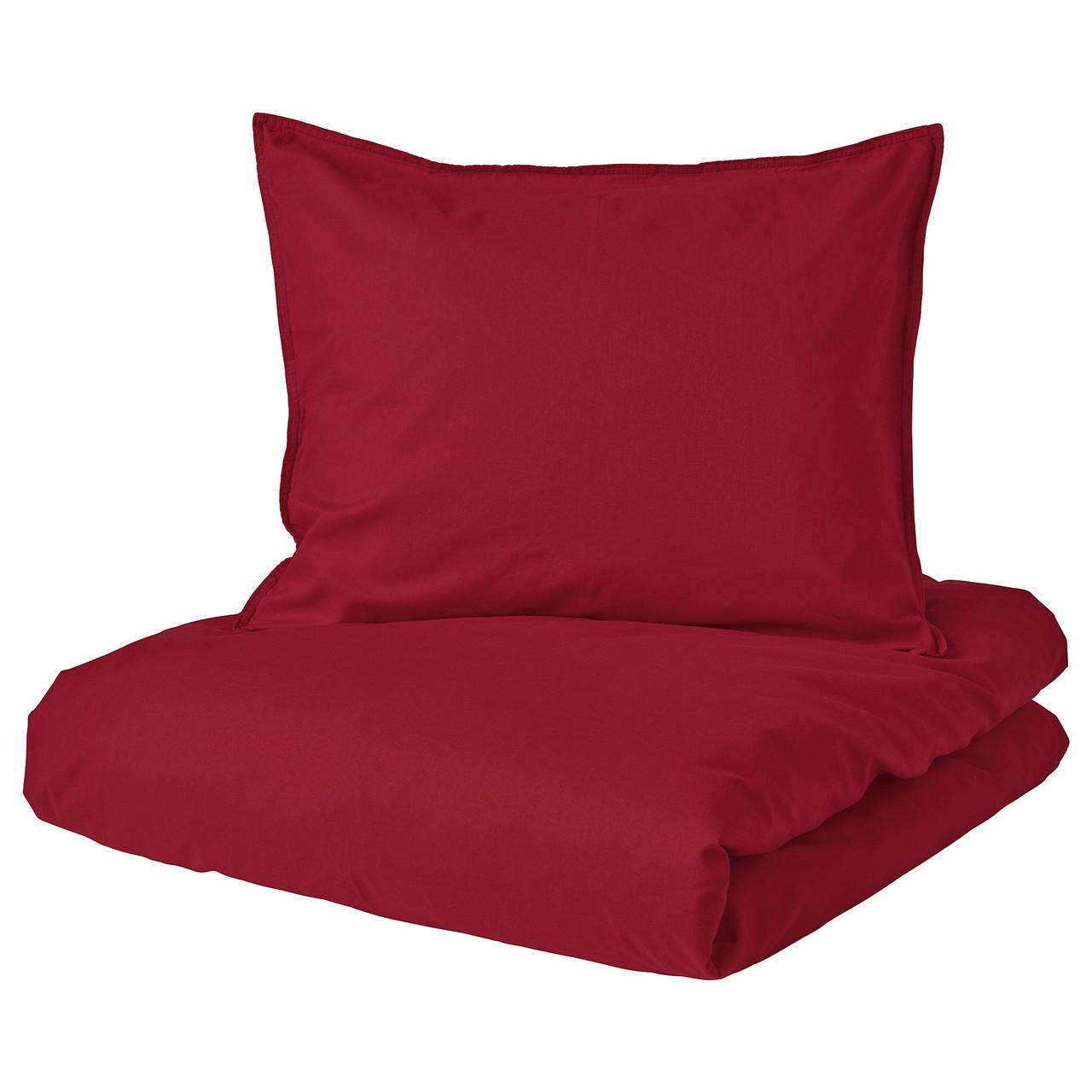 Комплект постельного белья IKEA ÄNGSLILJA 150х200 см 50х60 см красный 604.434.53