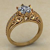 Золотое украшение, проба 585