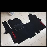 Ворсовые коврики в салон RENAULT Trafic с 2001 г. (Черные)