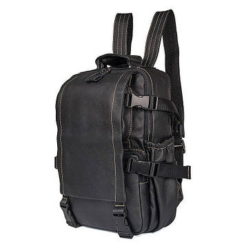 Компактный кожаный рюкзак для парней