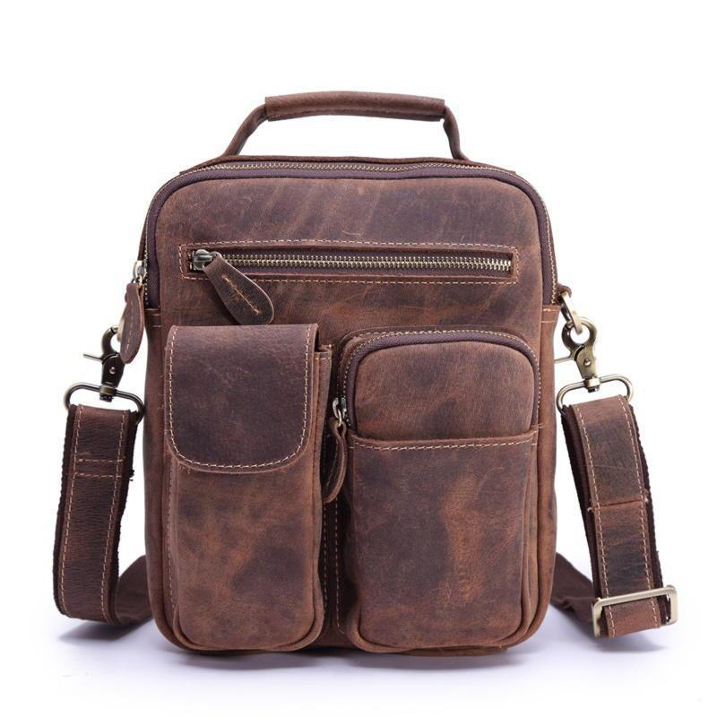 Коричневая мужская сумка оригинальная