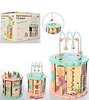 Развивающая деревянная игрушка бизиборд с пальчиковым лабиринтом арт 2332