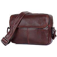 Стильная коричневая мужская сумка через плечо