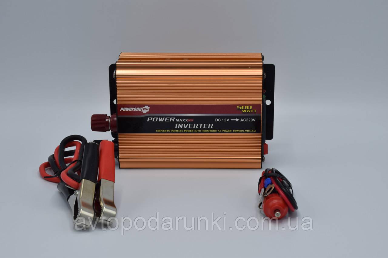 "Инвертор 12v-220v ""POWERONE pluse PD-500A""/500 Ватт"